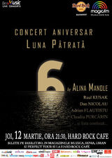 Concert aniversar Luna Patrata 6 by Alina Manole pe 12 Martie in Hard Rock Cafe