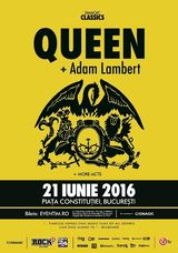 Concert QUEEN si Adam Lambert pentru prima data in Romania! 21 iunie 2016  Piata Constitutiei, Bucuresti