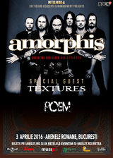 AMORPHIS si TEXTURES - Under The Red Cloud World Tour - pe 3 aprilie la Bucuresti