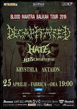 DECAPITATED, Hate si Thy Disease canta la Bucuresti pe 25 aprilie
