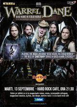 Warrel Dane (Nevermore, Sanctuary) canta la Hard Rock Cafe pe 13 septembrie