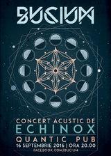 Bucium vor sustine un concert acustic de Echinox in Quantic Club