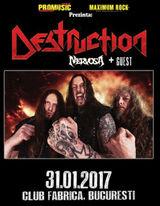 Concert DESTRUCTION si NERVOSA in club Fabrica, Bucuresti
