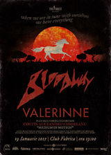Concert  Bloodway si Valerinne pe 19 ianuarie in Club Fabrica