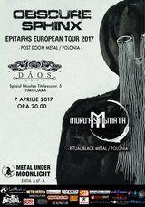 Concert Obscure Sphinx la Timisoara pe 7 aprilie