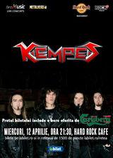 Concert Kempes pe 12 aprilie la Hard Rock Cafe