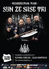 Concert Syn Ze Sase Tri pe 26 martie la Cluj-Napoca