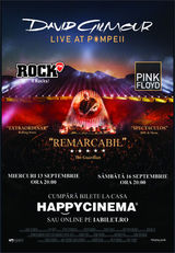 David Gilmour: Live At Pompeii la Happy Cinema pe 16 septembrie