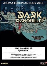 Concert Dark Tranquillity pe 19 Aprilie in Quantic