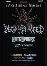 Concert Decapitated, Hatesphere si ThyDisease pe 14 Noiembrie in Quantic
