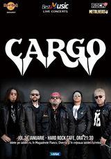 Concert Cargo in Hard Rock Cafe din Bucuresti pe 31 ianuarie 2019