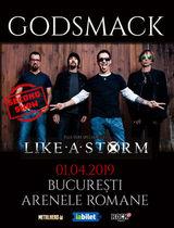 GODSMACK sustine al doilea concert la Bucuresti pe 1 Aprilie