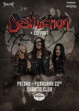 Concert Destruction pe 22 Februarie in Quantic