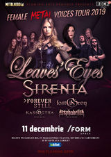 The Female Metal Voices Tour 2019 la Cluj-Napoca pe 11 Decembrie