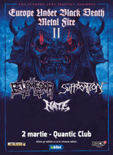 Concert Suffocation, Belphegor & HATE - part II pe 2 martie 2020 in Club Quantic