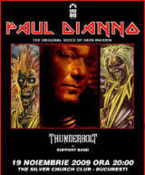 S-au pus in vanzare biletele pentru concertul Paul Di'Anno (ex-Iron Maiden) la Bucuresti