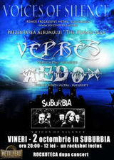 Voices Of Silence, Vepres si Redox canta in Suburbia pe 2 octombrie