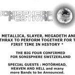 Metallica, Slayer, Anthrax, Megadeth si Motorhead pentru Sonisphere Elvetia! La o saptamana distanta de Romania!