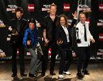Metallica au primit in Brazilia discul de aur si platina