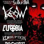 Concert Krow, Eufobia, Korruption si Psychogod in Suburbia