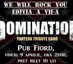 Concert Domination, formatia tribut Pantera, vineri in Targoviste
