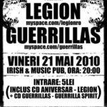 Concert Guerillas si Legion la Irish & Music Pub din Cluj Napoca