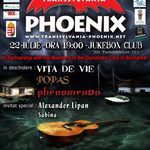 Concert caritabil Phoenix in Club Jukebox din Bucuresti