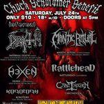 Concert benefit pentru Chuck Shuldiner