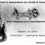 Concert Apocalips in Class Cafe din Sannicolau Mare