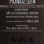 Concert Monozid in club Manufactura din Timisoara