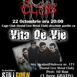 Stillborn canta in deschiderea concertului Vita De Vie din Cage