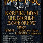 Korpiklaani, Moonsorrow si altii participa la Paganfest 2011