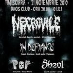 Concert Necrovile, In Defiance si P.O.V in clubul Daos din Timisoara