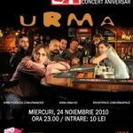 Concert Urma la Club A din Bucuresti
