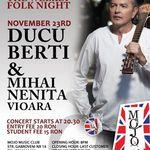 Concert Ducu Berti si Mihai Nenita in club Mojo Bucuresti