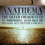 Concert Anathema vineri seara in Club Silver Church din Bucuresti