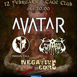 Concert Avatar, Indian Fall si Grimegod in Cage Club din Bucuresti