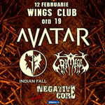 Concertul Avatar, Indian Fall si Grimegod se muta in Wings Club