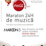Patricipa la maratonul de 24 de ore Coca-Cola si Maroon 5