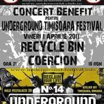 Concert Recycle Bin si Coercion in Underworld Bucuresti