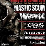 Concert Mastic Scum, Necrovile si multi altii diseara in Club Fabrica