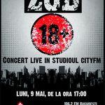 Concert aniversar Z.O.B. in studioul CityFM