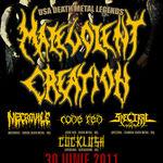 Castiga doua bilete la concertul Malevolent Creation! Pe Facebook!