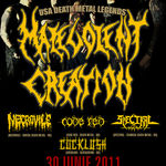 Concert Malevolent Creation joi in Club Fabrica!