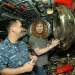 Megadeth au vizitat un submarin (foto)