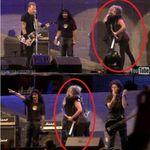 Impacare intre Dave Mustaine si Kirk Hamett