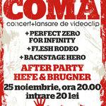 Concert de lansare Coma vineri in Fire Club