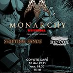 Monarchy lanseaza single-ul Hysteria cu un concert in Coyote Cafe