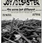 Concert Joy Disaster in Bucuresti si Cluj