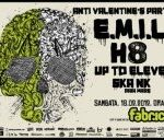 Concert E.M.I.L, H8 si Up To Eleven in club Fabrica